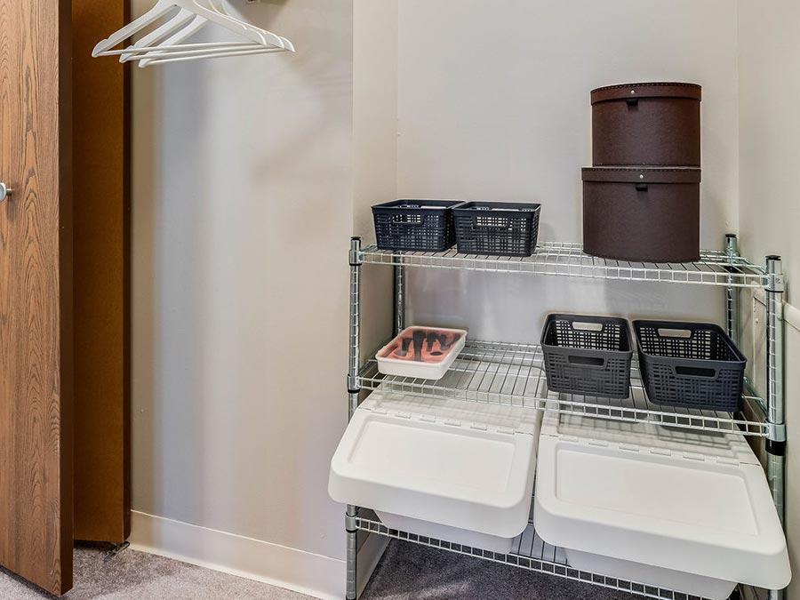 Westhaven Manor apartment interior closet