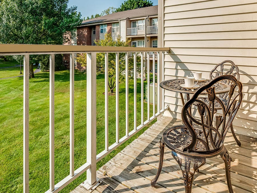 Westhaven Manor private balconies and patios available